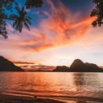 El Nido bay and Cadlao island at sunset, Palawan, Philippines.