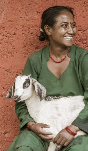 Lady with goat