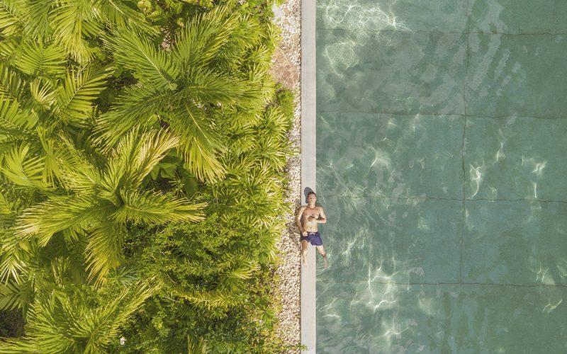 pool drone image phuket pavilions